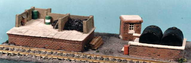 BRICK COALING STAGE SET