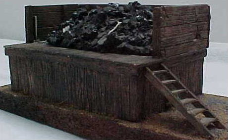 WOODEN COALING STAGE W/COAL